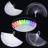 20Pcs 32Pcs Color Card False Nail Tips Fan Transparent White Practice Display