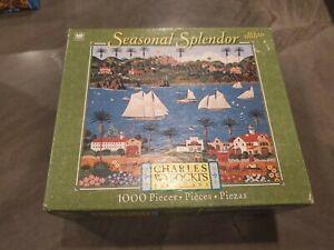 Charles Wysocki Old California Seasonal Splendor 1000 Piece New Puzzle Hasbro
