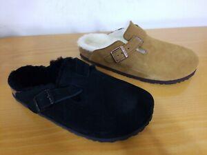 Birkenstock Boston Fur Suede Leather Clog - NEW - Choose Size & Color