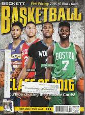 BECKETT BASKETBALL CARD MONTHLY PRICE GUIDE OCT 2016 TOP DRAFT PICKS COVER