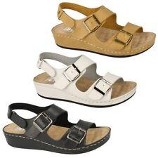 Buckle Wedge Synthetic Sandals & Flip Flops for Women