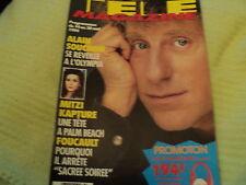"""TELE MAGAZINE N°2010 - 1994"" Alain SOUCHON, Isabelle ADJANI, Ken WAHL"