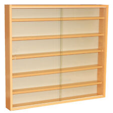 REVEAL 6 Shelf Glass Wall Display Unit Beech MC0501