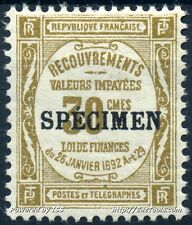 FRANCE TYPE TAXE COURS INSTRUCTION N° 46CI2 NEUF * AVEC CHARNIERE