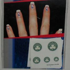 BOSTON CELTICS FINGERNAIL TATTOOS DECALS 4 SHEETS 5 ON EACH CARD FREE SHIPPING