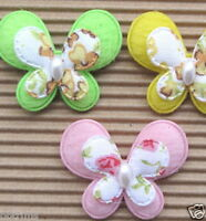 """US SELLER - 36 x (1 3/8"""") Padded 2-Layer Butterfly Appliques for Hair Bow ST228A"""