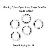 Sterling Silver Round 4 MM O/D Jump Ring (Wire 22 Ga) Pkg. Of 50 Saw-Cut 184S