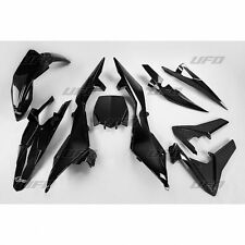 UFO Plast 5 Piece Motocross Plastic Kit Husqvarna TC 449 4T 11 - 13 Black