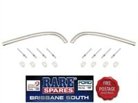 HOLDEN HK HT HG FRONT GUARDS EYEBROW MOULDING SET WITH CLIPS RARE SPARES