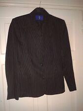 Debenhams Striped Womens Linen Business Ladies Silk Tailoring Jacket 16 44 NEW