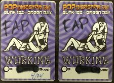 Blink 182 Green Day 2002 Tour Satin Backstage Pass Working Set Of 2