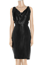 Vivienne Westwood Gold Label Savannah Black Silk-Satin Dress UK 14