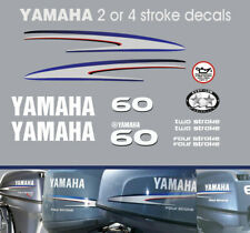 YAMAHA 60hp 2 stroke and 4 stroke outboard decals