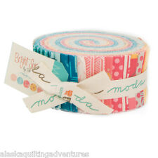 "Moda FABRIC Jelly Roll ~ BRIGHT SUN ~ by A Quilting Life  40 - 2.5"" strips"