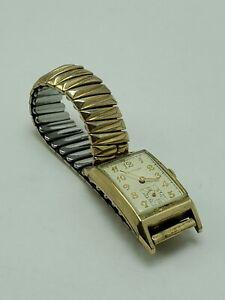 Waltham 750-B 17 Jewels 10K Gold Filled Men's Art Deco Style Manual Watch