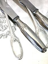 "CHRISTOFLE ANTIQUE FLATWARE SET SILVER-PLATED MARIE ANTOINETTE 24 PCS ""RARE"""