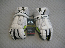 Under Amour Elevate lacrosse gloves NEW sz small 10 white