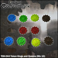 LAST STAND CONVERTIBLES BITS COUNTERS - KINGS and QUEENS TOKENS (10)