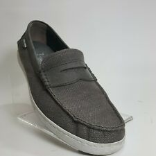 Cole Haan Mens Penny Loafers Pinch Marine Classic Grand OS Gray Canvas Sz 12