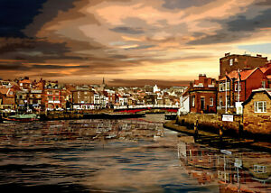 WHITBY Special Edition Limited Art Print by Sarah Jane Holt