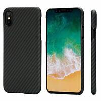 Genuine Real Carbon Fiber Case Ultra Slim Shell Cover For iPhone X XR XS Max