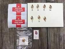 Lot of 8 American Red Cross Blood Donor Pins 2-9 Gallon Gold Plated 1 Donor Pin