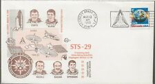3/13/89 STS-29  Satellite Deployed,  Space Voyage Cover