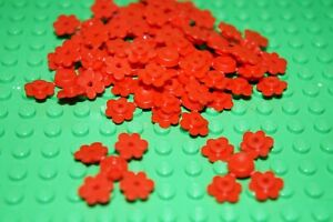 LEGO  80 x INDIVIDUAL RED FLOWER HEAD No 3742 FRIENDS / CITY / ELVES