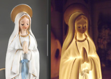 Mid Century Josef Originals Ceramic Mother Mary Night Light Figurine Japan Vtg