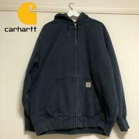 It'S Popular Carhartt Zip Sweat Duck Hoodie Navy Long Sleeve Size Xl(Ll)