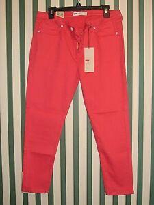 NWT Levi's Capri Leggings Junior's Size 15M 32/25; Color: Orange