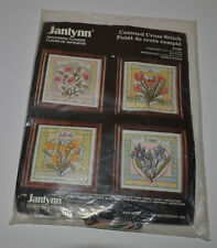JANLYNN COUNTED CROSS STITCH KIT- Patchwork Flowers #51-169 - NEW