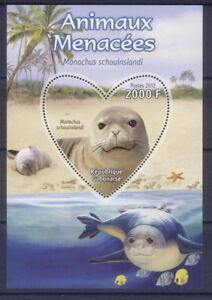 GB0212z 2012 s/s MNH Endangered animals Marine monk seal rare