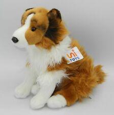 Uni-Toys Neuware Hund Hütehund Collie sitzend weiße Nase ca. 25cm groß