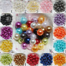 Wholesale 4mm/6mm/8mm/10mm Acrylic Round Pearl DIY Spacer Loose Beads