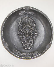 INDIAN MOTORCYCLES ALUMINUM ASHTRAY  WITH ANTIQUE FINISH