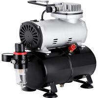 1/5HP Airbrush Compressor Kit Dual Action Air Brush fit Spray Gun W/ 3L Air Tank