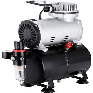 1/5HP Airbrush Compressor Kit Air Brush fit Dual Action Spray Gun W/ 3L Air Tank