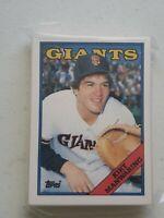 10 Topps Traded 1988 # 64T and #39 Giants Baseball Card Kirt Manwaring