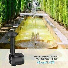 Solar Powered Water Fountain Bird Bath Fountain Pump Garden Pool Watering Kit UK