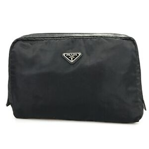 100% authentic Prada nylon handbag pouch used 1322-3-e@1