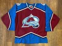 Colorado Avalanche Vintage Pro Player NHL Hockey Jersey Adult XL 90s Authentic