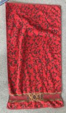 """Vintage Christmas Bath Towel Noel Red Green Gold sparkly holiday Xmas 48"""" x 26"""""""