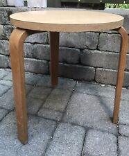 Vintage Mid Century Modern Alvar Aalto Style Bent Leg Nesting Stool Table
