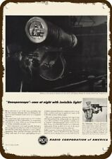 1946 RCA SNOOPERSCOPE & GUN SNIPERSCOPE SCOPE Vintage Look Replica Metal Sign