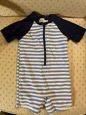 Short Sleeve Boy Bodysuit Bathing Suit 6-12 Months