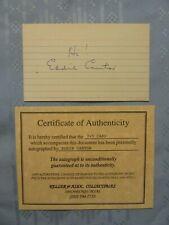 SIGNED ORIGINAL W/COA AL CAPP LI'L ABNER CARTOONIST AUTOGRAPH CARD