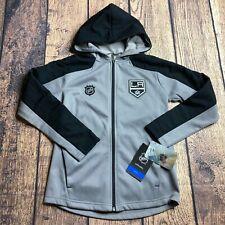 NHL Youth Boy Small 8 Los Angles Kings Full Zip Logo Delta Track Jacket NEW Gray