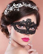 Black Lace Masquerade Mask Amelia Regular Post from Australia - allow 1 Week Del