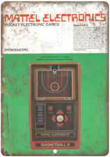 "Mattel Electronics Basketball Hand Held Game 10""X7"" Reproduction Metal Sign G49"